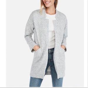 Express Grey Knit Oversize Blazer Open Jacket